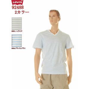 Levi'sT-SHIRT Vネックティー ボーダー Tシャツ LOT 92488-0003 92488-0004(2カラー)|3love