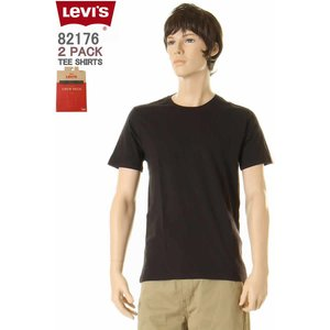 Levi's Wear 2P Tee Shirts 82176-0003 リーバイス 2枚1組 Tシャツ Levis CREW T-SHIRT クルーネックTシャツ|3love