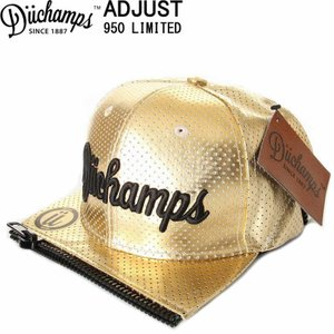 DUCHAMPS CAP BORU IN LOS ANGELES GOLD MESH CAP デュチャンプス キャップ スナップバックキャップ 刺繍|3love