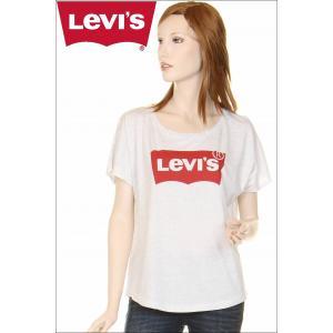 Levi's ladies T-SHIRTS 117500 バットウィングロゴTシャツ アッシュグレー ハウスマーク レディースTシャツ リーバイス|3love