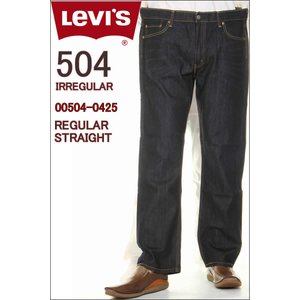 LEVI'S 00504-0425 IRREGULAR JEANS リーバイス 504 イレギュラー レギュラーフィット ストレート ジーンズ ストレッチデニム 股下32in 着用 3love
