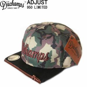 DUCHAMPS CAP BORU IN LOS ANGELES CAMO WOOD CAP デュチャンプス キャップ スナップバックキャップ 刺繍|3love