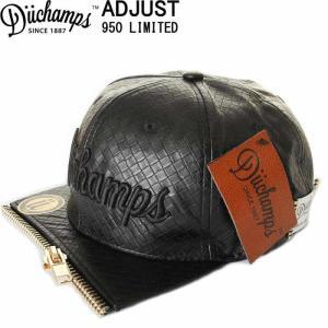 DUCHAMPS CAP BORU IN LOS ANGELES BLACK MESH CAP デュチャンプス キャップ スナップバックキャップ 刺繍|3love