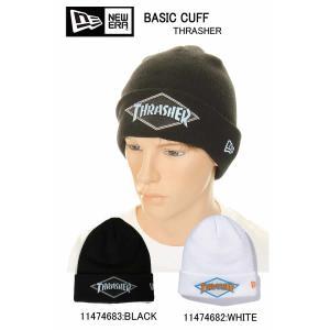メール便 NEW ERA ニューエラ BASIC CUFF KNIT 11474683 11474682 ニットキャップ 帽子 新品 メンズ帽子 ニット帽 ニット帽子 THRASHER|3love