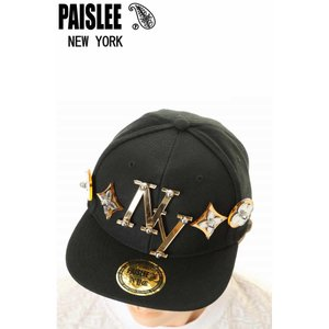 PAISLEE BRAND CAP USA VINTAGE FRAMES COMPANY USA GOLD NEW YORK VINTAGE FRAMES ペイズリー キャップ SNAPBACK CAP|3love