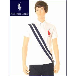 POLO RALPH LAURENニューヨーク限定商品 半袖 ビッグポニー ポロ ラルフローレン ポロシャツ 83838(ホワイト/レッド/ネイビー)|3love
