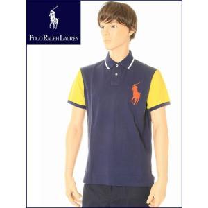 POLO RALPH LAURENニューヨーク限定商品 半袖 ビッグポニー ポロ ラルフローレン ポロシャツ 85908(ネイビー/ホワイト/ゴールド)|3love