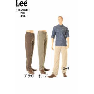 Lee 200 REGULAR STRAIGHTLOT.Lee 200-8921-8977-8939 3カラー(カーキ オリーブ ブラウン) オリジナルジップフライ Lee Riders リー ライダース ストレート 3love