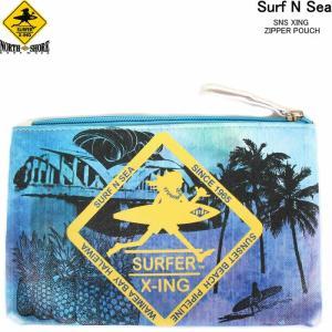 HAWAII HALEIWA Surf N Sea サーフ アンド シー ジッパーポーチ ハワイ サーフショップ ハレイワ ハワイアン雑貨 ポーチ 小物|3love