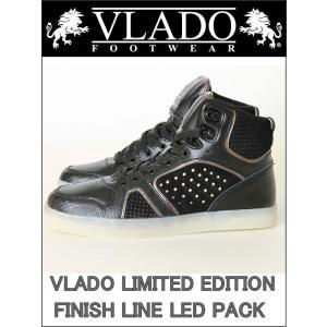 訳有ハイカットスニーカー VLADO LIMITED EDITION サイドとソールにLEDがフラッシュ(ブラック×ブラック BLACK×BLACK)光る スニーカー|3love