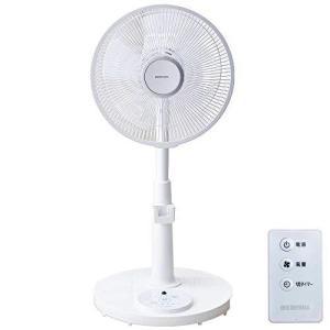 アイリスオーヤマ 扇風機 首振り リモコン付 風量3段階 タイマー機能付き 換気 リビング扇 ホワイト PF-M302RA-Wの画像
