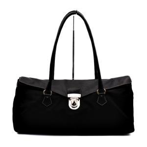 PRADA プラダ ショルダーバッグ ハンドバッグ ナイロン レザー 黒 ブラック レディースバッグ【本物保証】|3rboutipue