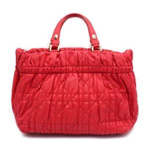美品 Christian Dior クリスチャンディオール デリディオール カナージュ 2WAY ハンドバッグ M08140LCW M353 シープスキン レッド【本物保証】|3rboutipue