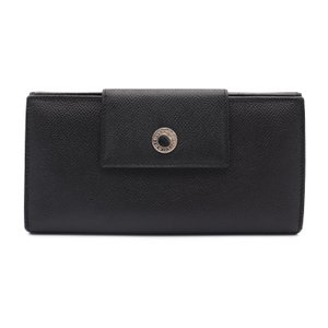 超美品 BVLGARI ブルガリ 三つ折り長財布 ブラック レザー【本物保証】|3rboutipue
