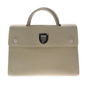 超美品 Christian Dior クリスチャンディオール Diorever ディオールエヴァー ハンドバッグ 2way ベージュ レザー【本物保証】|3rboutipue
