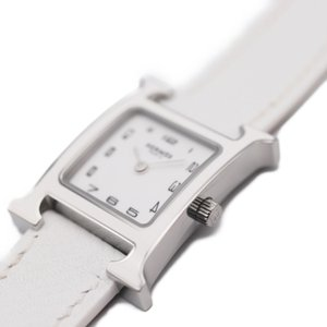 新品未使用展示品 HERMES エルメス Hウォッチ HH1.220 レディース腕時計 クォーツ 白文字盤【本物保証】|3rboutipue
