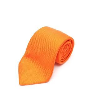 美品 HERMES エルメス ネクタイ オレンジ シルク メンズ 小物【本物保証】|3rboutipue