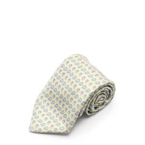 新品未使用展示品 HERMES エルメス ネクタイ シルク 黄緑 グレー マルチカラー【本物保証】|3rboutipue