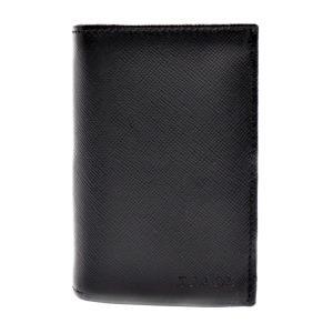新品未使用展示品 PRADA プラダ カードケース 名刺入れ 2M0945 サフィアーノ ブラック レザー 小物【本物保証】|3rboutipue