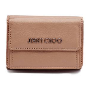 新品未使用展示品 JIMMY CHOO ジミーチュウ NEMO コンパクトウォレット 三つ折り財布  バレットピンク【本物保証】|3rboutipue