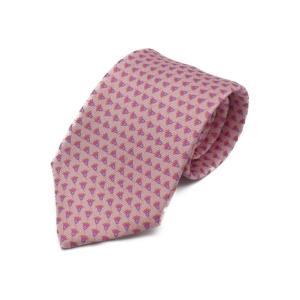 新品未使用展示品 BVLGARI ブルガリ ネクタイ シルク ピンク メンズ アパレル 小物【本物保証】|3rboutipue