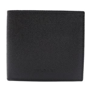 新品未使用展示品 BVLGARI ブルガリ 2つ折り 財布 20253 レザー ブラック 黒 メンズ 小物【本物保証】|3rboutipue