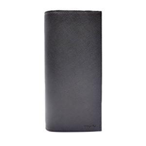 新品未使用展示品 PRADA プラダ 二つ折り 長財布  2MV836 サフィアーノ レザー ブラック 黒 メンズ【本物保証】|3rboutipue