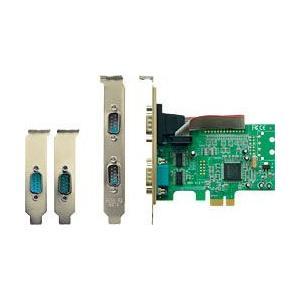 玄人志向 2S-LPPCIE MCS9922チップ採用 シリアルポートx2のPCI-Express x1インターフェースボード|3top