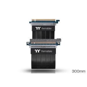 サーマルテイク AC-045-CN1OTN-C1 TT Premium PCI Express Extender Cable(300mm) 信号のロスを抑え耐久性に優れたPCI Expressライザーケーブル|3top