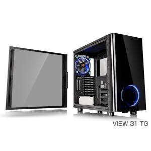 サーマルテイク CA-1H8-00M1WN-00 VIEW 31 TG 優れた拡張性と冷却性能を備えるミドルタワー型PCケース|3top