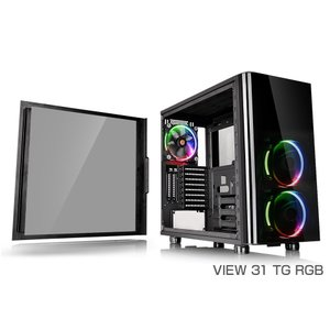サーマルテイク CA-1H8-00M1WN-01 VIEW 31 TG RGB 優れた拡張性と冷却性能を備えるミドルタワー型PCケース|3top