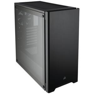 CORSAIR CC-9011132-WW 275R Tempered Glass Black 強化ガラスを採用したATX対応コンパクトミドルタワーPCケース|3top