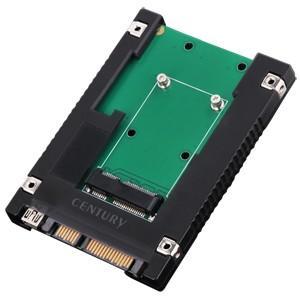センチュリー CRIN25MS 【裸族のインナー for mSATA】mSATA SSDを9.5mm厚2.5インチSATA HDDサイズに変換可能なアダプター|3top