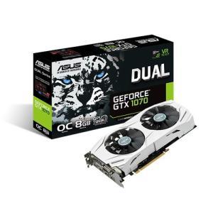 ASUS DUAL-GTX1070-O8G 強力な風圧で冷却性能を向上したホワイトカラーのGTX 1070ビデオカード|3top