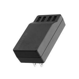 グリーンハウス GH-AC-U4AK ひとつのコンセントで4台まで充電できる!4ポートUSB-AC充電器【少量在庫有り即納!!】|3top