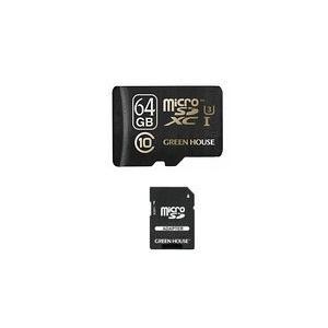 グリーンハウス GH-SDMRXCUA64G 4K動画撮影に最適 UHSスピードクラス3対応の高速microSDXCカード(64GB)|3top