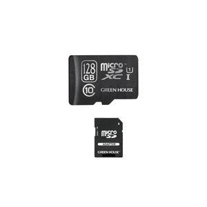 グリーンハウス GH-SDMRXCUB128G スマホに最適 UHS-I対応128GBの高速microSDXCメモリーカード|3top