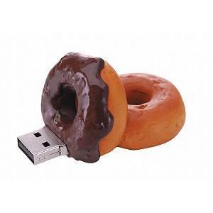 グリーンハウス [GH-UFD2GF-DC] ドーナツ型USBフラッシュメモリ 2GB(チョコレート)|3top