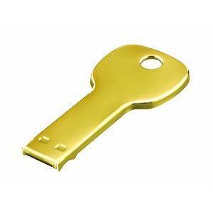グリーンハウス [GH-UFD4GKYG] カギ型USBフラッシュメモリ 4GB(ゴールド)|3top