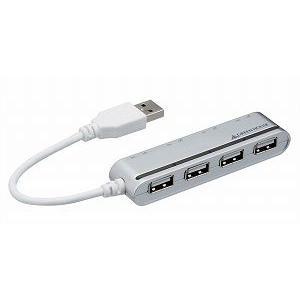 グリーンハウス [GH-UH204SBS] 切り替えスイッチ付き4ポート USBハブ(シルバー)|3top