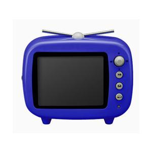グリーンハウス [GHV-DF35TVB] レトロポップなテレビ型!FMも聴けるデジタルフォトフレーム(ブルー)|3top
