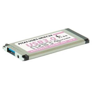 玄人志向 PITAT-USB3.0R/EC34 はみださずに使えるExpress Card 34対応USB3.0カード 1ポートモデル|3top