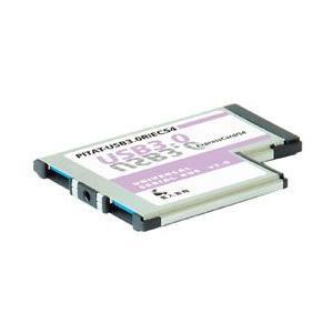 玄人志向 PITAT-USB3.0R/EC54 はみださずに使えるExpress Card 54対応USB3.0カード 2ポートモデル|3top