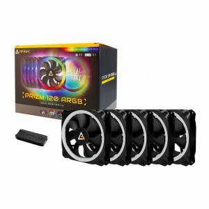 【箱破損品】ANTEC Prizm 120 ARGB 5+C 120mmファン5個 専用ファンコントローラ同梱パッケージ【数量限定特価!】|3top