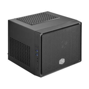 クーラーマスター RC-110-KKN2-JP [Elite 110 Cube]2スロットサイズのビデオカードに液冷ラジエーターも搭載できる極小サイズのMini-ITXキューブPCケース 3top