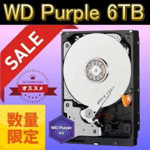 WesternDigital WD6NPURX WD Purple NV SATA6Gb/s 64MB 6TB Intellipower 3.5インチハードディスク AF対応(新品・バルク品)【在庫限り特価!】|3top
