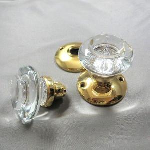 ガラス製ドアノブ ヴィクトリアン ラウンド 空錠タイプ