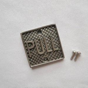 ピューター製ドア インジケーターPULL ドアプレート