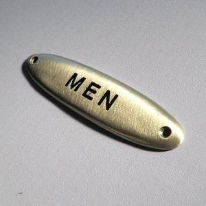 ピューター製ドアプレート MEN サインプレート