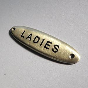 ピューター製ドアプレート LADIES サインプレート